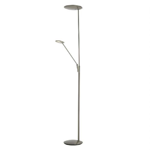 LED Floor Lamp Standard Mother And Child Satin Nickel LXOUN4946-17